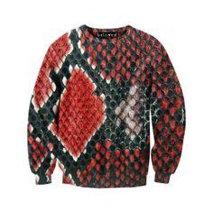Red Snake Skin Sweatshirt