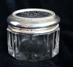 Gorham Beaded Sterling silver Topped Dresser Jar