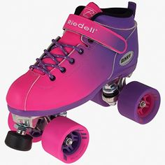 New2016 Riedell Pink and Purple Dart Ombre Roller Speed Skate for Indoor Skating *** Want additional info? Click on the image. (This is an affiliate link)