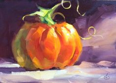 AFFORDABLE PUMPKIN PAINTING by TOM BROWN, painting by artist Tom Brown