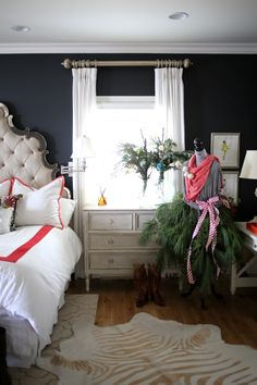 Christmas House Tour via lifeingrace - I am SO in love with the bedecked mannequin Edie!! @Edie Wadsworth