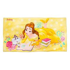 Belle Beach Towel - Personalizable   Disney Store Stretch out in the sun with a good book on Belle's plush terrycloth beach towel, a royal swim accessory for seaside or pool.