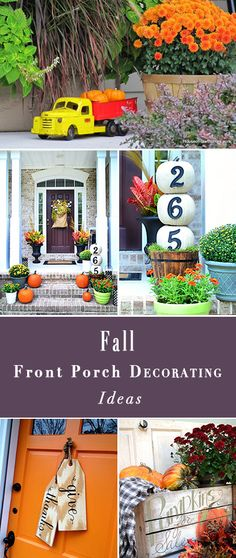 Fall Front Porch Decorating Ideas • Great ideas and DIY projects from some of our favorite bloggers for dressing up the porch for fall, on a budget!