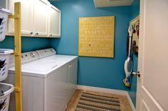 I like the peg board and laundry basket holder!