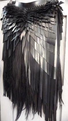 Dark Fashion, Futuristic Clothing #Fashion #dystopia #Futura #future #ultramodern by liz sodbinow