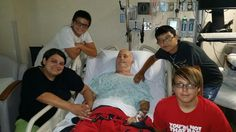 Tracy and the boys with my daddy. #RIPDaddy