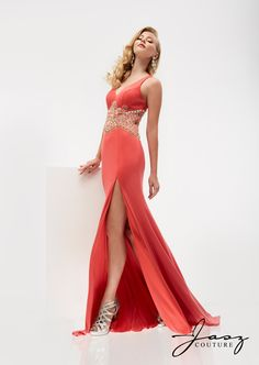 SEQUIN HEARTS Coral Prom Formal Party Gown 3 $100 NWT