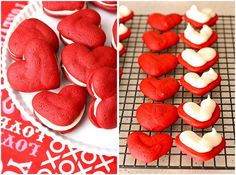 Heart Shaped Red Velvet Whoopie Pies