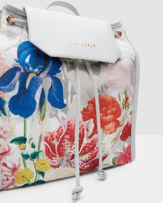 f2d2af472acca1 Encyclopaedia Floral foldaway backpack - Ash