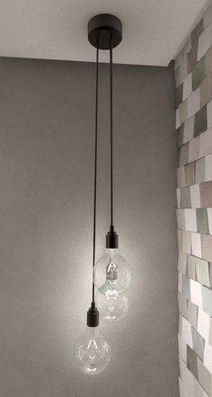 Bathroom Pendant Lighting Ideas New Cool Wall Tiles Hanging Bulb Pendant Light Max Bathroom Pendant Lighting, Bedside Lighting, Bedroom Lighting, Kitchen Lighting, Bedside Pendant Lights, Hanging Lights In Bathroom, Stairway Lighting, Strip Lighting, Club Lighting