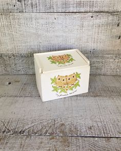 Recipe Box Vintage Owl Wood Recipe Box Antique Recipe Box Mid Century Owl Recipe Box Vintage Recipe Card Box Vintage Storage Box by TheDustyOldShack on Etsy