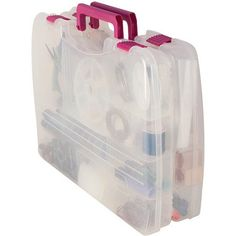 Creative Options 1309-80 Soft Blue Pro-Latch Mini Sideways Utility Organizer with 1 to 4 Adjustable Compartments