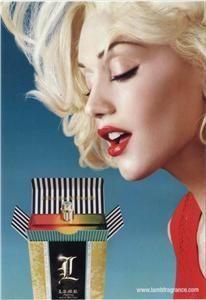 Gwen Stefani in her LAMB perfume ad