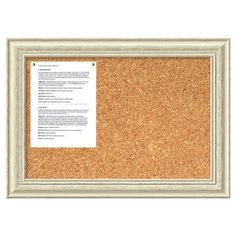 Hang notes and Polariods on this framed corkboard for charming style in the office, or add colorful push-pins to create a chic and unique way to organize jew...