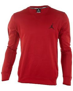 Nike Jordan Dominate 3.0 Mens 624266-695 Red Dri-Fit Long Sleeve Shirt Size 3XL
