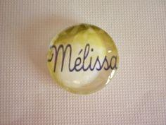 """Cabochon rond de 20 mm de diamètre thème personnaliser """" Mélissa"""". : Autres accessoires bijoux par laboiteabijouxnanny"""