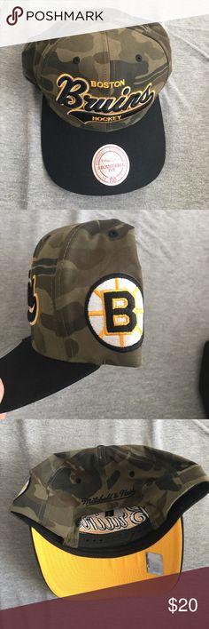 Bruins Hat Camo bruins hat Accessories Hats
