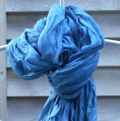 Your place to buy and sell all things handmade Wedding Shawl, Summer Scarves, Cotton Scarf, Beach Covers, Blue Fashion, Scarf Styles, Blue Denim, Cover Up, Beautiful Women