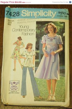 30%OffPatterns Simplicity 7428 Boho Bohemian by EleanorMeriwether