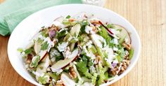 Give classic waldorf salad a boost of flavour and texture with tasty walnuts.