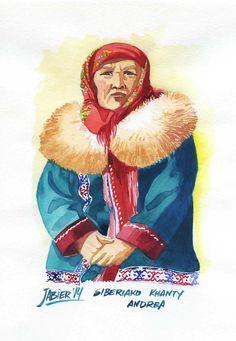 Khanty etniako andrea. Siberia