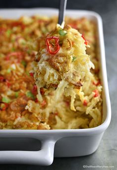 Put some spice in your breakfast with this DELISH Crispy Jalapeño Hash Brown Casserole recipe!