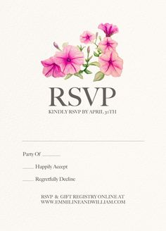 These summer flower invites feature morning glories in watercolor. This invitation suite includes wedding invitation, matching RSVP card and table numbers. These high quality invites are customizable to your specific needs and are a perfect choice for any wedding!  This listing is for a customized DIGITATION card invitation, RSVP cards and table numbers.  Invitation: 5x7 (fits in A7 envelope) RSVP: 3.5x4.875 (fits in A1 envelope) Table Numbers: 4x6  Does not include envelopes.  The final…