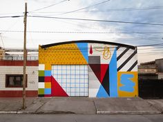 Street Artist Elian Completes Abstract Piece in San Miguel de Tucuman (6 pictures)