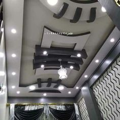 Stylish Modern Ceiling Design Ideas If we think of the ceilings in our homes, so often the first thi Drawing Room Ceiling Design, Simple False Ceiling Design, Plaster Ceiling Design, Interior Ceiling Design, House Ceiling Design, Ceiling Design Living Room, Fall Celling Design, House Design, Fall Ceiling Designs Bedroom