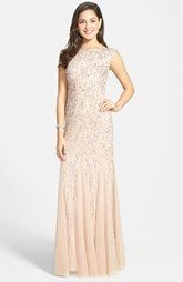 Adrianna Papell Embellished Mermaid Gown