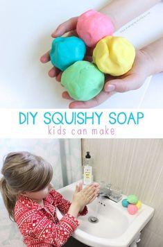 DIY Squishy Soap only 4 ingredients! Fun kids' craft.