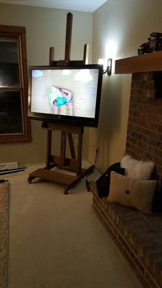 Easel Used As A Tv Stand