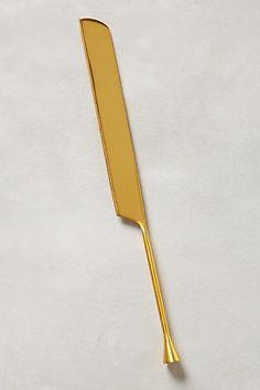 Gilded Cornet Cake Knife - anthropologie.com