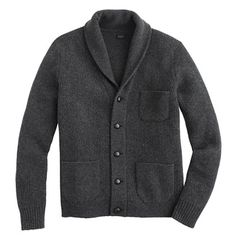 Lambswool three-pocket cardigan