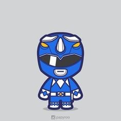 I like blue color and triceratops. So this guy is an instant favorite. Power Rangers Art, Mighty Morphin Power Rangers, Vector Design, Vector Art, Design Art, Cartoon Pics, Cute Cartoon, Power Rangers Coloring Pages, Power Ranger Birthday