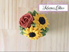 Piping a Buttercream Sunflower - YouTube