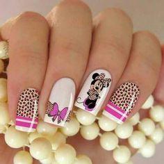 Bellas unhas Mickey Nails, Lavender Nails, Sparkle Nails, Beautiful Nail Designs, Stylish Nails, Nail Arts, Cute Nails, Nail Art Designs, Nail Polish