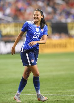 Professional soccer player Christen Press is heading to the Rio Olympic Games with Team USA — see how she manages her stress and pressure with yoga!