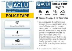 The ACLU's Police Tape app lets users discreetly record audio and video and provides helpful legal information about their rights when inter...