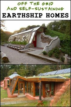 31 Off The Grid And Self-Sustaining Earthship Home. 31 Off The Grid And Self-Sustaining Earthship Homes Natural Building, Green Building, Building A House, Cob Building, Villa Design, House Design, Architecture Durable, Sustainable Architecture, Grid Architecture
