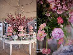 mesa de doces casamento peonias