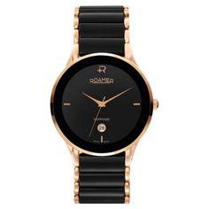 Roamer Mens Sapphire Black Ceramic Watch 677972495560 Gents Watches b662850347