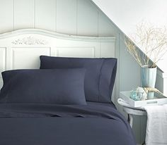 Rajlinen Navy Blue Solid 4 Piece Attached with Fitted Sheet Waterbed Sheet Set Queen (15 Inch Deep)Highest Quality Breathable 1000-Thread-Count Ultra Soft Rich Egyptian Cotton Searching bedroom decor inspiration? - http://aluxurybed.com/product/rajlinen-navy-blue-solid-4-piece-attached-with-fitted-sheet-waterbed-sheet-set-queen-15-inch-deephighest-quality-breathable-1000-thread-count-ultra-soft-rich-egyptian-cotton/