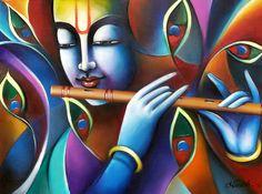 "Artist: Namish Arora  Title: Shades of Divine Size: 24"" X 18"" (inches) Medium: Acrylic on canvas  Year of Execution: 2016 e-mail: namish777@gmail.com"