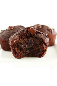 These double chocolate muffins know how to keep a secret.