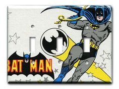 Excitable Caped Crusader 1970's Vintage Wallpaper Triple by Fondue,