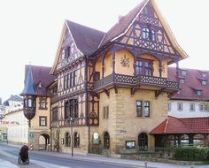 Das Henneberger Haus, built between 1894 bis 1895 by architect Eduard Fritze, Meiningen, Germany...