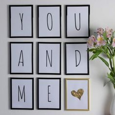 ♡♡♡ The perfect gift idea: DIY 365 reasons why I love you! do it yourself ♡♡♡ - Liebe Reasons Why I Love You, Gallery Wall, Frame, Gifts, Wedding, September, Design, Valentine Gift For Him