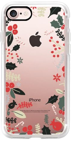 Casetify iPhone 7 Classic Grip Case - Christmas Wreath by Miel Café Design #Casetify