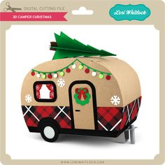 Exceptional Christmas deco detail are available on our web pages. Read more and you will not be sorry you did. 3d Christmas, Christmas Paper Crafts, Christmas Themes, Christmas Decorations, Christmas Ornaments, Minis, Retro Campers, Vintage Campers, Diy Camper
